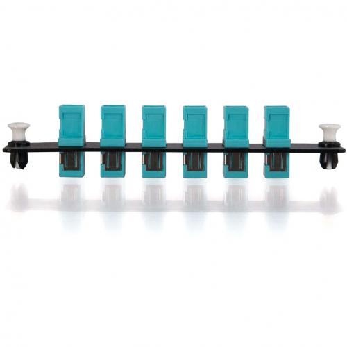 C2G Q Series 6 Strand, SC, PB Insert, MM, Aqua SC Adapter Panel Alternate-Image1/500