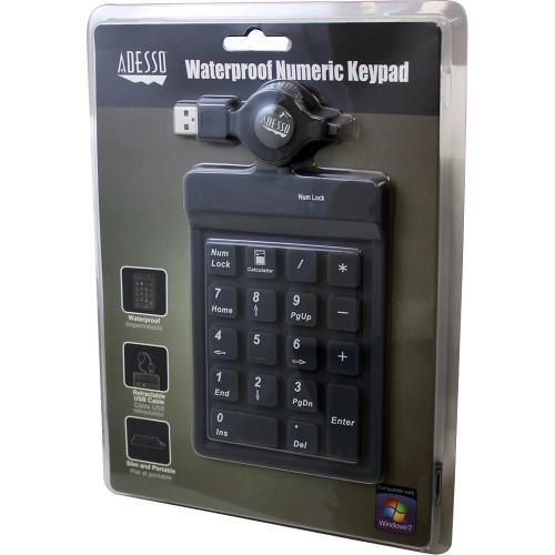 Adesso AKP 218 18 Key Waterproof Key Pad Alternate-Image1/500