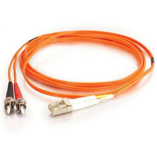 C2G 2m LC ST 50/125 Duplex Multimode OM2 Fiber Cable   Orange   TAA   6ft Alternate-Image1/500