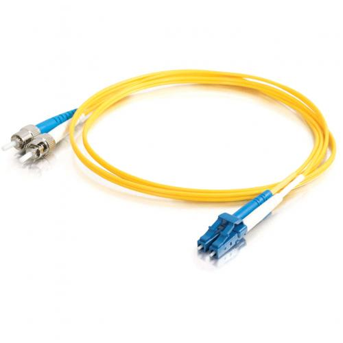 C2G 5m LC ST 9/125 Duplex Single Mode OS2 Fiber Cable   Yellow   16ft Alternate-Image1/500