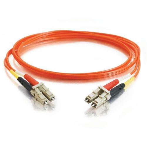 C2G 30m LC LC 50/125 OM2 Duplex Multimode PVC Fiber Optic Cable (USA Made)   Orange Alternate-Image1/500