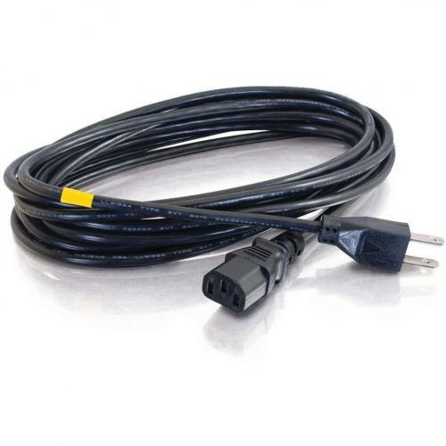 C2G 8ft Power Cord   16 AWG   NEMA 5 15P To IEC320C13   Computer Power Alternate-Image1/500