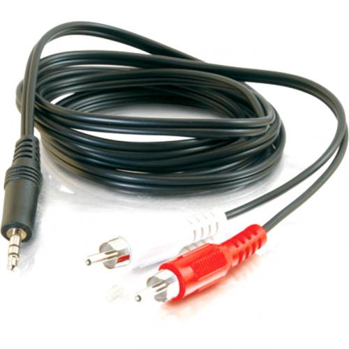 C2G 6ft Value Series One 3.5mm Stereo Male To Two RCA Stereo Male Y Cable Alternate-Image1/500