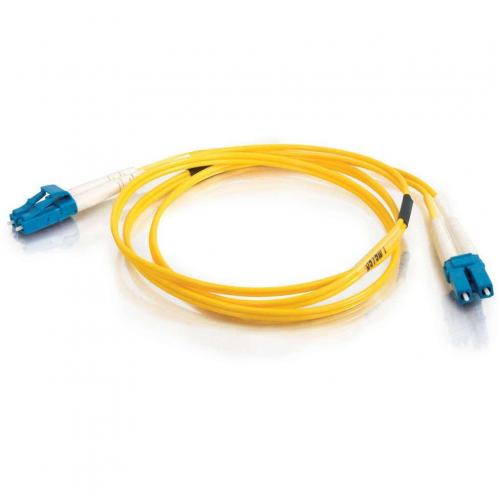 C2G 30m LC LC 9/125 OS1 Duplex Singlemode Fiber Optic Cable (Plenum Rated)   Yellow Alternate-Image1/500