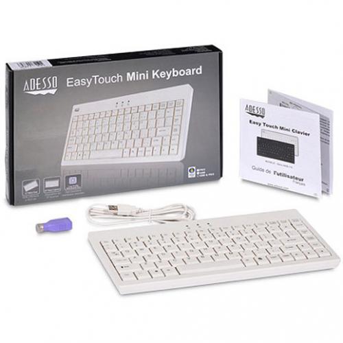 Adesso EasyTouch AKB 110W Mini Keyboard Alternate-Image1/500