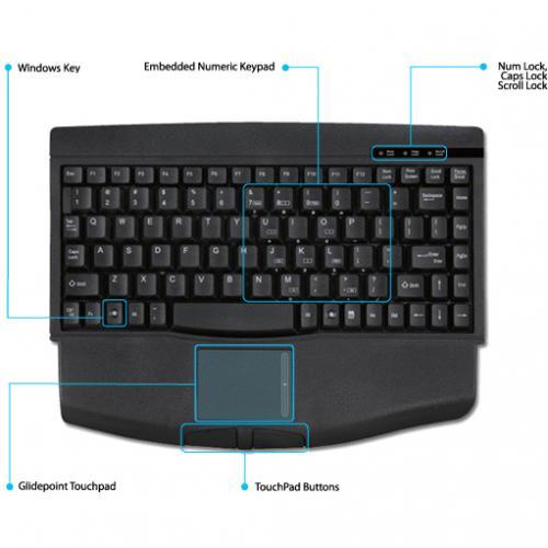 Adesso MiniTouch ACK 540PB Keyboard Alternate-Image1/500