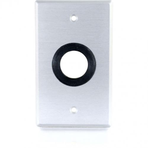 C2G 1in Grommet Cable Pass Through Single Gang Wall Plate   Brushed Aluminum Alternate-Image1/500