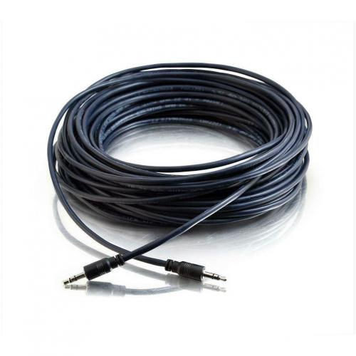 C2G 50ft Plenum Rated 3.5mm Stereo Audio Cable With Low Profile Connectors Alternate-Image1/500