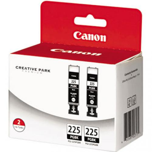 Canon PGI 225 Ink Cartridge   Twin Pack   Pigment Black Alternate-Image1/500