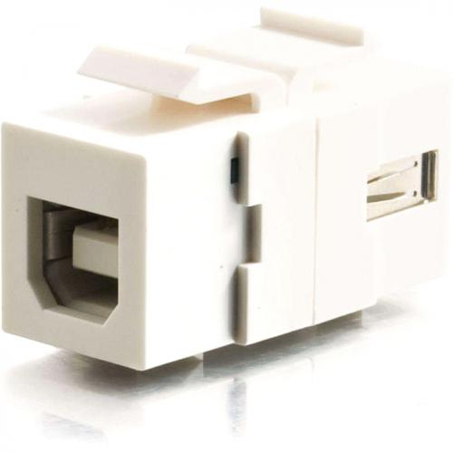 C2G Snap In USB A/B Female Keystone Insert Module   White Alternate-Image1/500