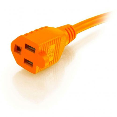 C2G 75ft 16 AWG Hospital Grade Power Extension Cord (NEMA 5 15P To NEMA 5 15R)   Orange Alternate-Image1/500