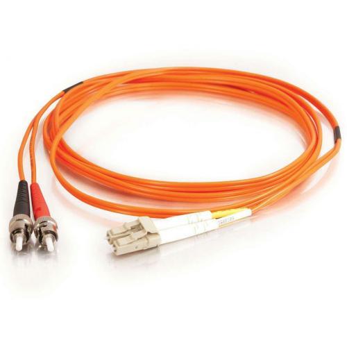 C2G 3m LC ST 62.5/125 OM1 Duplex Multimode Fiber Optic Cable (TAA Compliant)   Orange Alternate-Image1/500
