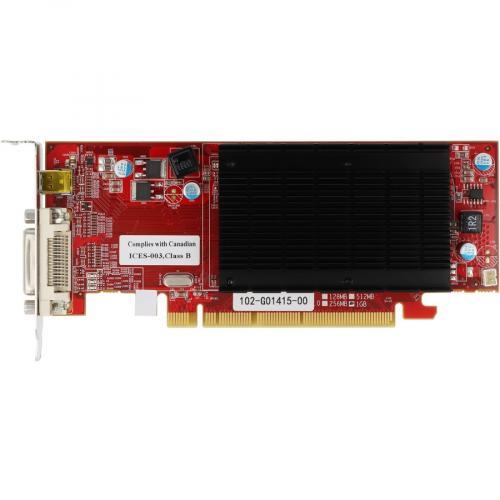 VisionTek Radeon 6350 SFF 1GB DDR3 3M DMS59 (2x DVI I, MiniDP) W/ 2x DVI I To VGA Adapter Alternate-Image1/500