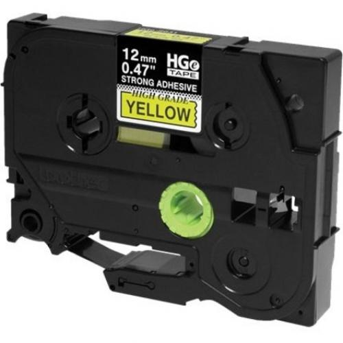 Brother HGES6315PK Black On Yellow Extra Strength Adhesive Label Tape Alternate-Image1/500