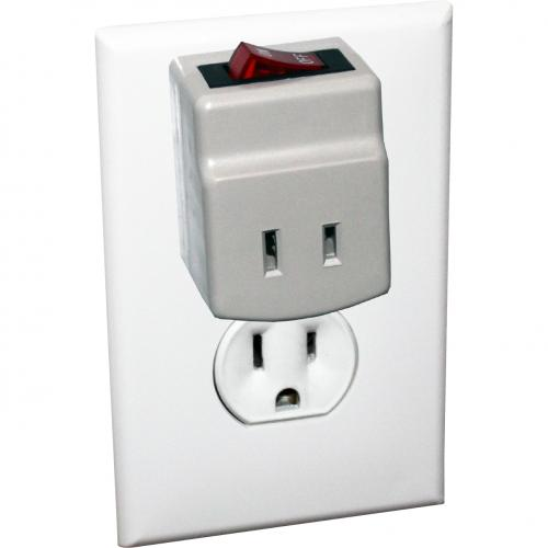 QVS Single Port Power Adaptor With Lighted On/Off Switch Alternate-Image1/500