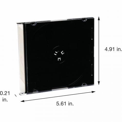 Verbatim CD/DVD Black Slim Jewel Cases   200pk (bulk) Alternate-Image1/500