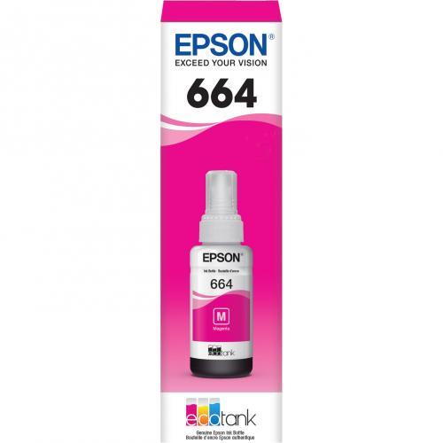 Epson T664 Original Ink Cartridge   Magenta Alternate-Image1/500