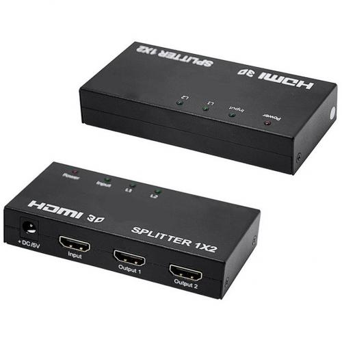 4XEM 2 Port HDMI Splitter & Signal Amplifier Alternate-Image1/500