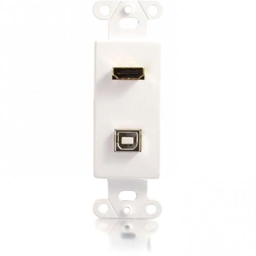 C2G HDMI And USB Pass Through Wall Plate Alternate-Image1/500