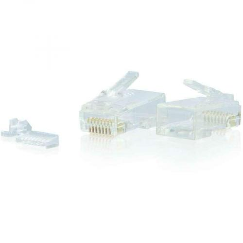C2G RJ45 Cat6 Modular Plug For Round Solid/Stranded Cable   50pk Alternate-Image1/500