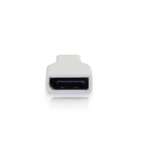 C2G Mini DisplayPort To DisplayPort Adapter   Mini DP To DP   M/F White Alternate-Image1/500
