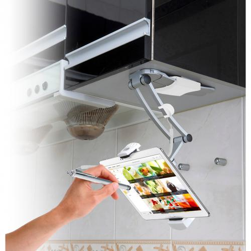 CTA Digital PAD KMS 2 In 1 Kitchen Mount Stand For IPad And Tablets Alternate-Image1/500
