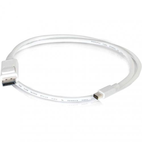 C2G 3ft Mini DisplayPort To DisplayPort Adapter Cable M/M   White Alternate-Image1/500