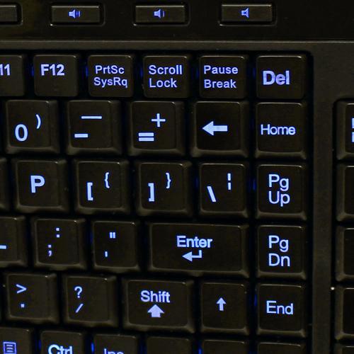 Adesso SlimTouch 120   3 Color Illuminated Compact Multimedia Keyboard Alternate-Image1/500