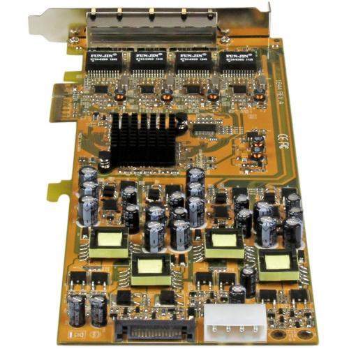 StarTech.com 4 Port Gigabit Power Over Ethernet PCIe Network Card   PSE / PoE PCI Express NIC Alternate-Image1/500