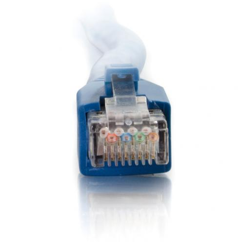 C2G 150ft Cat6 Snagless Solid Shielded Network Patch Cable   Blue Alternate-Image1/500