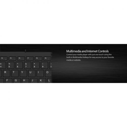 Adesso SlimTouch 510   Mini Keyboard With USB Hubs Alternate-Image1/500