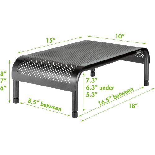 Allsop Metal Art Ergo 3 Adjustable Height Monitor Stand 15 Inch Wide Platform   (31630) Alternate-Image1/500