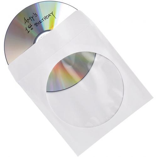 Verbatim CD/DVD Paper Sleeves With Clear Window   100pk Box Alternate-Image1/500