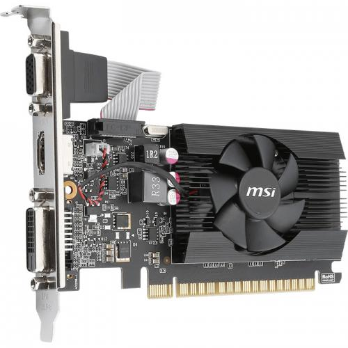 MSI GeForce 710 Graphics Card     2GB 64 Bit DDR3   Includes Fan Cooler   NVIDIA GeForce GT 710 954 MHz   Low Profile Video Card Alternate-Image1/500