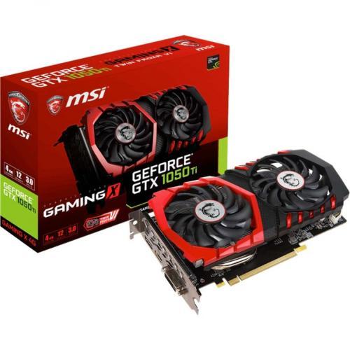 MSI Gaming X GeForce GTX 1050 Ti Graphics Card     4GB 128 Bit GDDR5   TORX Fan 2.0   1.49 GHz Boost Clock   NVIDIA GameWorks Technology   DirectX 12 Features Alternate-Image1/500