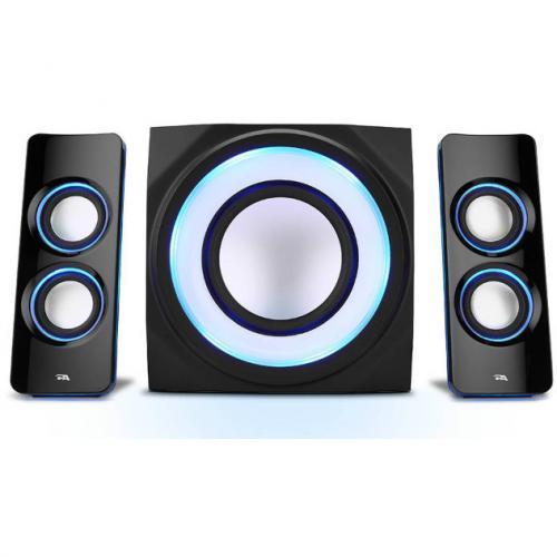 Cyber Acoustics Curve CA 3712BT 2.1 Bluetooth Speaker System   Black Alternate-Image1/500
