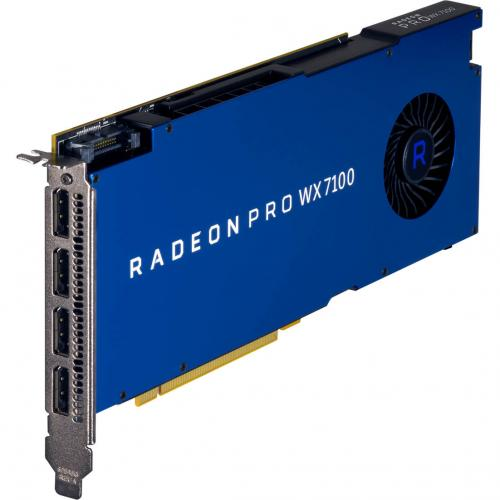 AMD Radeon Pro WX 7100 Graphic Card   2304 Stream Processors   8 GB GDDR5 Memory   1.19 GHz Core   256 Bit Memory Interface   4 X DisplayPort 1.4 Alternate-Image1/500