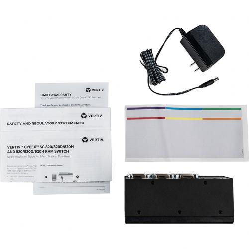 Vertiv Cybex SC900 Secure Desktop KVM Switch  2 Port Dual Head   DVI I  TAA Alternate-Image1/500
