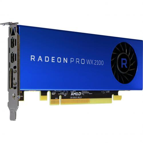 AMD Radeon Pro WX 2100 Graphic Card   2 GB GDDR5   Low Profile Alternate-Image1/500