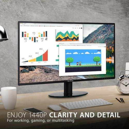 "Viewsonic VA2719 2K SMHD 27"" WQHD WLED LCD Monitor   16:9   Black Alternate-Image1/500"