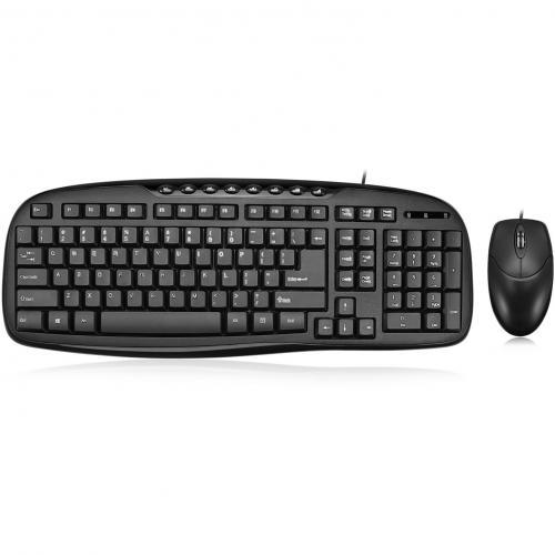 Adesso EasyTouch AKB 133CB Desktop USB Multimedia Keyboard And Mouse Combo Alternate-Image1/500