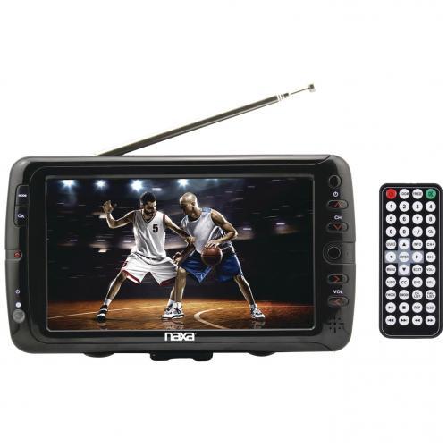 """Naxa NT 70 7"""" LCD TV   Shiny Black Alternate-Image1/500"""