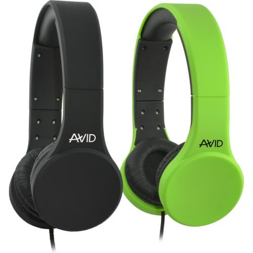 Avid Education AE 42 Headset With Inline Microphone And Volume Control, Green Alternate-Image1/500