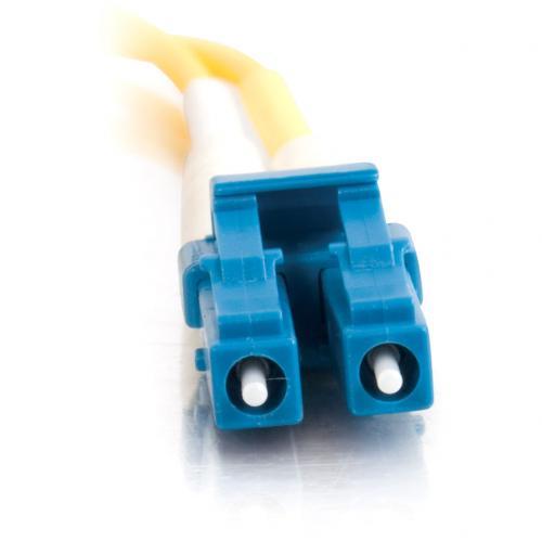 C2G 2m LC LC 9/125 Duplex Single Mode OS2 Fiber Cable   Yellow   6ft Alternate-Image1/500