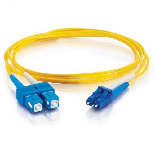 C2G 3m LC SC 9/125 Duplex Single Mode OS2 Fiber Cable   Yellow   10ft Alternate-Image1/500