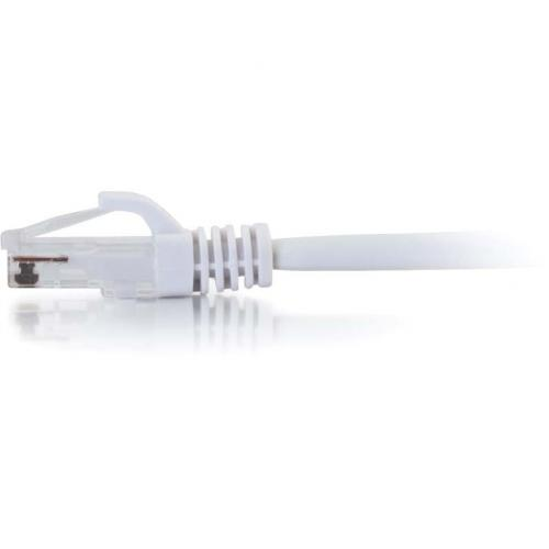 C2G 1ft Cat5e Snagless Unshielded (UTP) Network Patch Cable   White Alternate-Image1/500