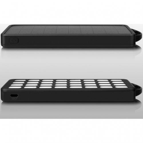 Aluratek 8,000mAh Dual USB 2.1A Power Bank With 32 LED Lantern Alternate-Image1/500