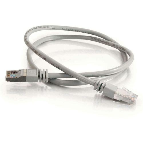 C2G 10ft Cat5e Molded Shielded (STP) Network Patch Cable   Gray Alternate-Image1/500