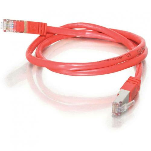 C2G 75ft Cat5e Molded Shielded (STP) Network Patch Cable   Red Alternate-Image1/500