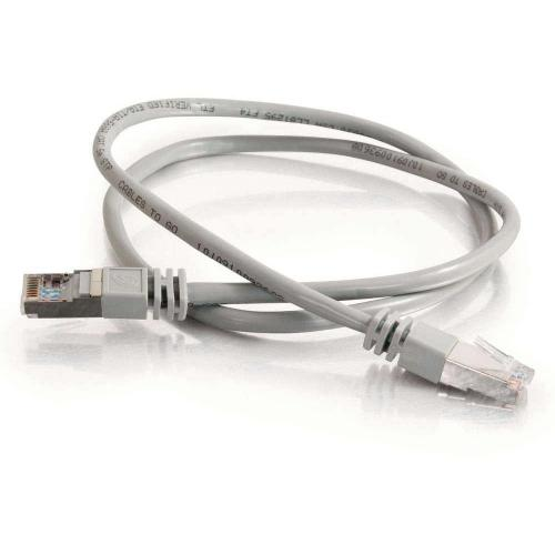 C2G 25ft Cat5e Molded Shielded (STP) Network Patch Cable   Gray Alternate-Image1/500
